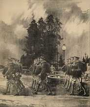 Painting of troops at Petawawa